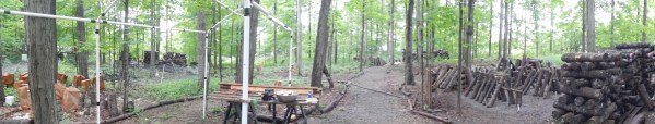panorama of our mushroom yard