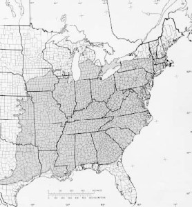 Range of Sycamore. (Source: USDA)